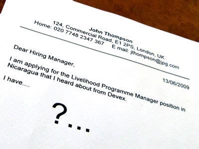 International Trade Cover Letter - Great Sample Resume